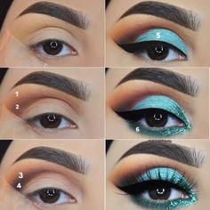 "Little pictorial of my last eye makeup look. The video tutorial is coming ! 😊 swipe to see what colours of the @jaclynhill palette I used. ⠀⠀⠀⠀⠀⠀⠀⠀⠀⠀⠀⠀⠀⠀⠀⠀⠀⠀⠀⠀⠀⠀⠀⠀⠀⠀⠀⠀⠀⠀⠀⠀⠀⠀⠀⠀⠀⠀⠀⠀⠀💫Details💫 @anastasiabeverlyhills dip brow ""dark brown"" @morphebrushes the jaclyn hill palette @eyeko black magic eyeliner @sarazaarcosmetics glitters ""envy"" @eyerisbeauty @wakeupandmakeup lashes ""sriracha"""