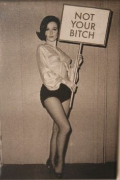 This looks like an old school photo of my Mom! .... and she would hold up a sign like that hahaha