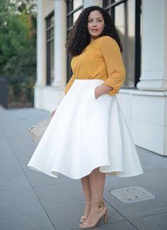 Love the volume on that skirt!