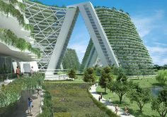 Architecture: Future city … Source by rkalan Modern Architecture Design, Green Architecture, Futuristic Architecture, Sustainable Architecture, Amazing Architecture, Future City, Eco Buildings, Eco City, Futuristic City
