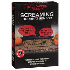 Spooky Halloween Decorations, Halloween Party Decor, Halloween Sounds, Credit Card Statement, When Someone, Scream, Decorating Your Home, Doormat, Hallway Rug