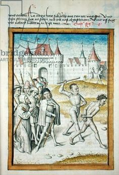 Ms 680/1389 A Man being Led to his Execution, from 'The Fables of Bidpai', c.1480 (vellum)
