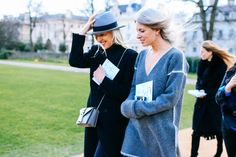 Street Style: London Fashion Week —  Ruth Chapman and Sarah Harris