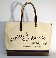 """Hand dyed cotton canvas tote bag - natural colored with black leather strap   In case of order, please contact us with the following e-mail address: info@smithandscribeco.com  Size: 15 cm x 36 cm x 45 cm - European 5,9"""" x 14,2"""" x 17,7"""" - American  #canvasbag #handmadebag #handdyedcanvas #vintagebag #hipsterbag #1920's #1930's #1940's Hipster Bag, Scribe, Green Leather, Handmade Bags, Italian Leather, Canvas Tote Bags, Cotton Canvas, Reusable Tote Bags, Street"""