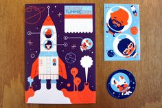 Space promo! 'Loulou & Tummie' #flat #illustration #flat_illustration