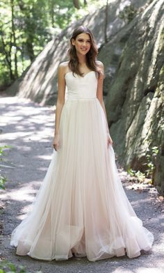 FLORENCE by Kelly Faetanini. This incredibly romantic strapless blush ombre ball gown features at tulle micro pleated bodice with horsehair hem and pockets. Flowing Wedding Dresses, Stunning Wedding Dresses, Colored Wedding Dresses, Dream Wedding Dresses, Bridal Gown Styles, Bridal Dresses, Pale Pink Weddings, Wedding Dress With Pockets, Designer Wedding Gowns
