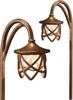 Hadco GASL4 Copper Mission Style Hook Mount Deco Glass Path Light