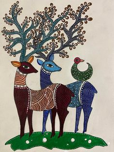 Art Painting Gallery, Madhubani Painting, Rajasthani Art, Madhubani Art, Indian Folk Art, Indian Art Paintings, Buddha Art, Arte Popular, Mural Art