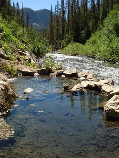 Four mile hike to Rainbow Hot Springs in Pagosa Springs, Co!