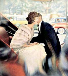"Lucinda in pale natural ""Diadem"" EMBA mink jacket, photo by Virginia Thoren-Rice, 1962 Winter Wedding Fur, Winter Wedding Bridesmaids, Winter Wonderland Wedding, Winter Bride, Fall Wedding, Dream Wedding, Vintage Fur, Vintage Bridal, Vintage Glamour"
