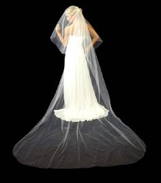 Plain Cut Edge Two Layer Chapel Cathedral Royal or Regal   Etsy Cathedral Wedding Veils, Budget Wedding, Wedding Ideas, Here Comes The Bride, Elegant Wedding, Wedding Gowns, Layers, Tulle, Bridal