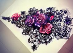 i don't like the roses, however, i did like the wa the purple was picked out in the lace