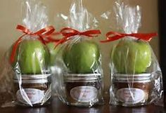 fall bridal shower ideas - Bing Images but using baby food jars to fill with caramel instead