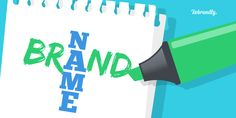 Choosing a brand name is hard! How can you encapsulate your whole brand with just a few letters? Here's 5 steps to thinking up some strong brand name ideas. News Blog, Step Guide, Brand Names, Branding, Letters, Business, Brand Management, Letter, Store
