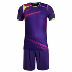New Mens Football Jerseys Boys Anti-shrink Paintless Football Custom Jerseys  Sports Wear Breathable Soccer Jerseys Kits 5bf536aed