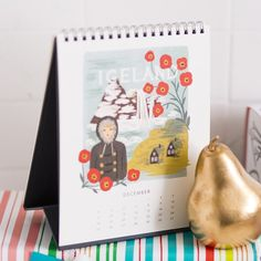 Give this desk calendar to your favorite travel companion.