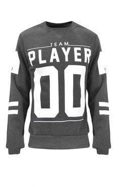 Ανδρικό φούτερ player 00 | Φούτερ - Sport & Αθλητικά - Άνδρας | Γκρι σκούρο