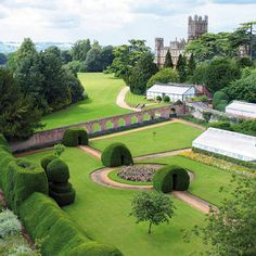 "Highclere Castle aka "" Downton Abbey"" Monks Garden"