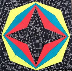 (7) Name: 'Quilting : Block Rock'n #11 Global Concepts - Quilt