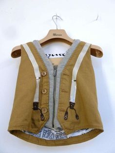 Interestingly detailed boys waistcoat for John Galiano Junior collection for summer 2013