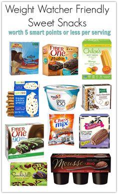 ww sweet snacks