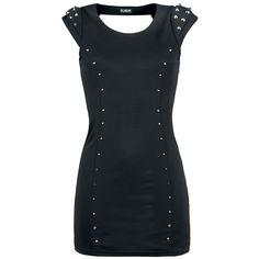 """Poizen Industries Korte jurk, Vrouw """"Night Spike"""" zwart • Large"""