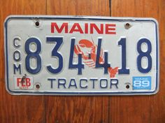 License Plate Alaska Wave 3 Antique Classic Customizable 6 x 12 Aluminum Vanity License Plate