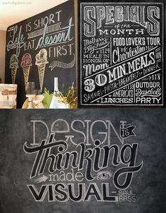 Chalkboard Writing Tips (like dip chalk in water, use Q-tips for fix ups, don't use paper towels to erase)- Love chalkboard art. If you get bored you can just erase and start again unlike paints or ink! Chalkboard Writing, Chalkboard Drawings, Chalkboard Lettering, Chalkboard Designs, Chalkboard Paint, Chalkboard Printable, Chalkboard Ideas, Fall Chalkboard, Chalk Typography