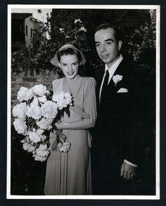 Wedding portrait - Judy Garland + Vincente Minnelli