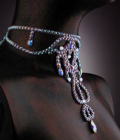 Serena Rhinestone Choker JLN507 | Dancesport Fashion @ DanceShopper.com