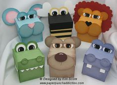 Paper Punch Addiction: Animal Treat Boxes