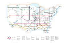 U.S. Interstates as a Subway Map