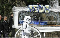 STAR WARS themed funeral fulfills 4-year-old's final wish.  There is nothing more tragic in this world than the death of a child but 4-year-old Jack Robinson, who passed away early last week due to an inoperable brain tumor, at least got to do so in the manner he had dreamed.