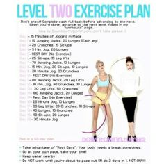 Exercise plan level 2