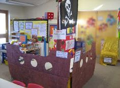 So many ideas for a Pirate Theme Classroom...