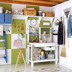 Improve your garage storage space with task kits, creatively stashing sporting gear, using a pegboard to organize your tools etc. For more tips and ideas for organizing your home and family visit https://www.facebook.com/OrganizingYourHome you may find something you 'LIKE'.