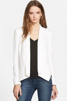 Rebecca Minkoff 'Becky' Silk Blazer $ 212.28   #Blazers for women with #elbow #patches