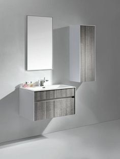 "Tona 32"" Grey Ash Modern Wall Mount Bathroom Vanity - The Vanity Store Canada - 32"" - 1"