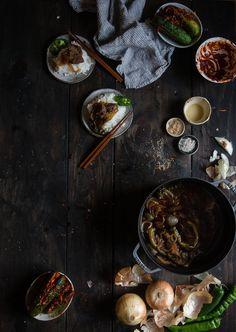 two red bowls | korean soy-braised beef (jangjorim) + a staub giveaway!