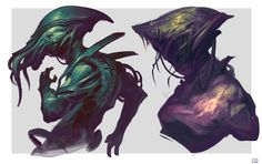 ArtStation - Creature sketches , Hue Teo