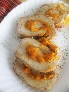 Roasted Pork Loin stuffed w/squash