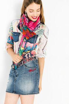 Multicolored scarf | Desigual.com 3070