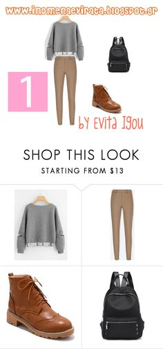 """""""1 - 2 Outfits Based On Quilted Sweatshirt From Shein"""" by evitaigou on Polyvore featuring Uniqlo"""