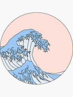 drawing anime 'aesthetic wave' Sticker by Aesthetic Painting, Aesthetic Art, Japanese Aesthetic, Aesthetic Drawings, Wave Drawing, Painting & Drawing, Aesthetic Iphone Wallpaper, Aesthetic Wallpapers, Home Bild