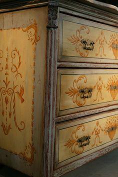 French Filigree 3 Drawer Dresser