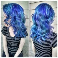 We've gathered our favorite ideas for Hair Color How To Pastel Blue Mermaid By Amber Yancey, Explore our list of popular images of Hair Color How To Pastel Blue Mermaid By Amber Yancey in blue mermaid hair color. Dark Pink Hair, Yellow Hair Color, Pastel Blue Hair, Hair Dye Colors, Ombre Hair Color, Cool Hair Color, Purple Hair, Pretty Pastel, Hair Colour