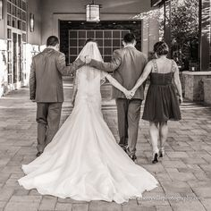 Such a sweet picture of the Bride and Groom with the Best Man and Maid of Honor at Stone House in Stirling Ridge, NJ. Photo credits Cherryville Photography