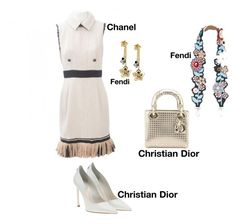 """#fashion #minifashionicon"" by minifashionicon on Polyvore featuring Chanel, Christian Dior and Fendi"