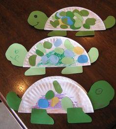 Pratos de papel tartaruga