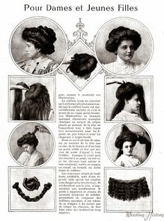 1901-1910. Hairstyle instruction.